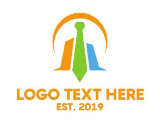 Stock Market - Colorful Tie Chart logo design