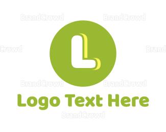Dad - Cute Green Circle logo design