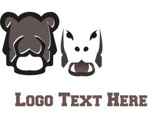 Rugby - Brown Hippo logo design