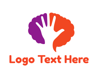 Education Hand & Brain logo design