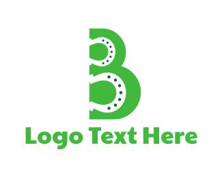 Green Horse - Green B Horseshoe logo design