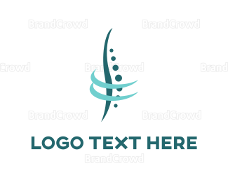 Chiropractic - Abstract Spine logo design