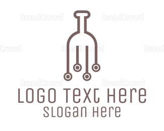 Bartender - Wine Circuit logo design