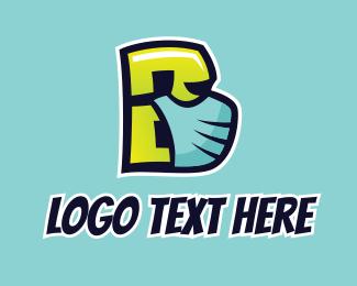 Street Art - Street Art Letter B  logo design