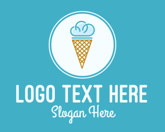 Ice Cream - Cloud Ice Cream logo design