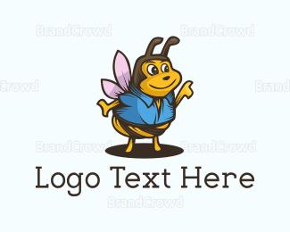 Adorable - Cute Wasp logo design