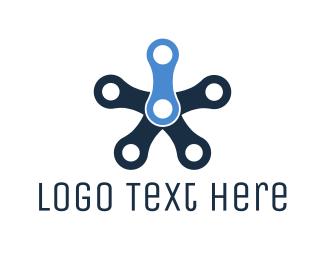 Chain - Industrial Star logo design