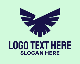 League - Flying Bald Eagle Bird logo design