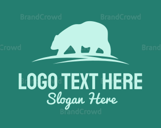 Antartica - Wandering Bear logo design
