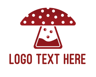 Burning Man - Mushroom Laboratory logo design