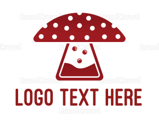 Burning Man - Mushroom Laboratory logo design