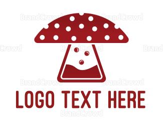 Recipe - Mushroom Laboratory logo design