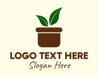 Boho Plant Pot Logo