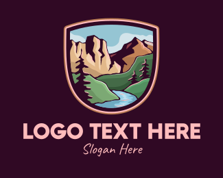 Shield - Lake Outdoor Badge logo design