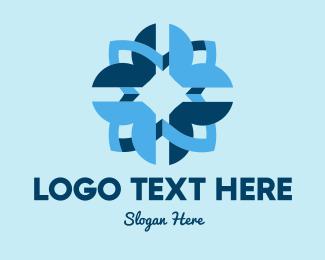 Company - Blue Flower Company logo design