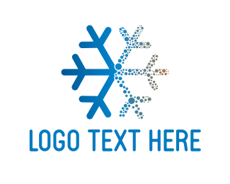 Frost - Blue Snowflake logo design