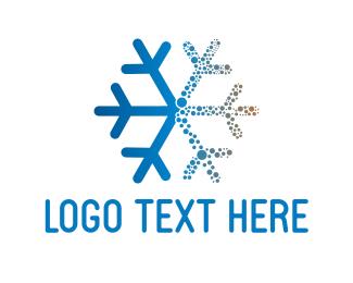 Cold - Blue Snowflake logo design