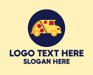Food - Pizza Delivery Food Truck logo design