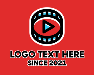 Youtube - Filmstrip Youtube Player logo design
