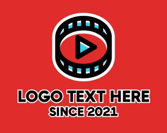 Youtube - Filmstrip Youtube Player logo design