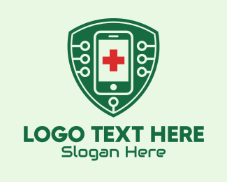 Shield - Smartphone Medical Technology logo design