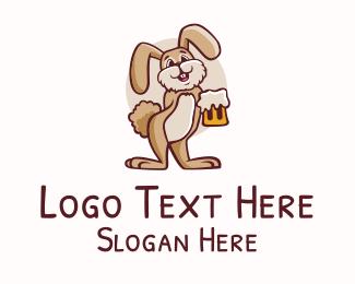 Beer Mug - Rabbit Beer Mascot logo design