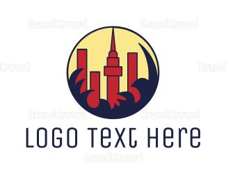 Business Center - Abstract City Skyline logo design