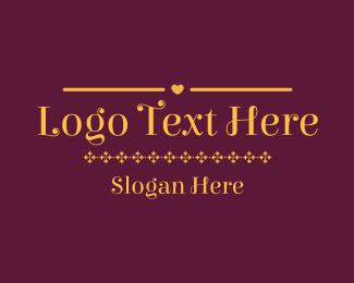 Text - Fancy Golden Text logo design