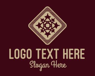 Interior Decorator - Beige Decorative Tile  logo design