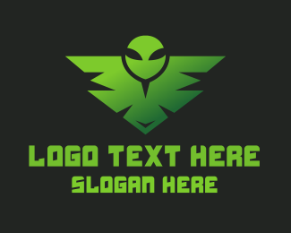 Pubg - Green Alien Badge  logo design