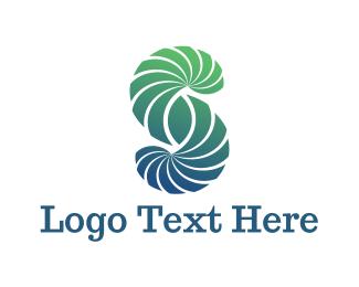 Curve - Letter S logo design