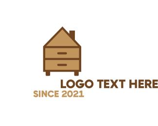 Drawer - Home Furniture logo design