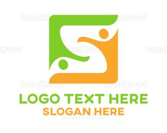 Duo - Letter S Team logo design