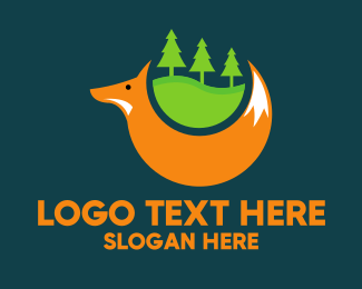 Forest - Forest Fox Trees logo design