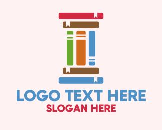 University - Education Learning Pillar Books logo design