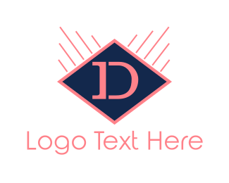 Dallas - Diamond Letter D logo design