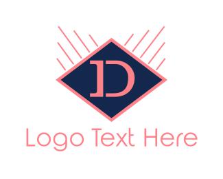 Dallas - Diamond Letter D logo design