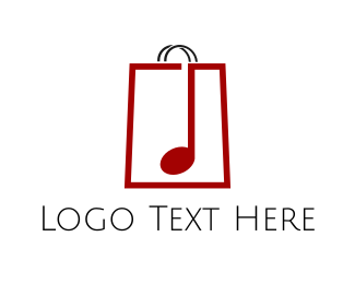 Music Store Shopping Bag Logo