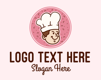 Pastry Chef - Cute Baker Chef  logo design