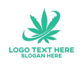 Hemp - Cannabis Marijuana Weed Leaf logo design