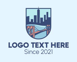Shield - Brooklyn Bridge logo design