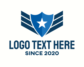 Pilot Training - Star Police Badge logo design
