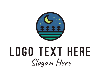 Campgrounds - Stary Night  logo design