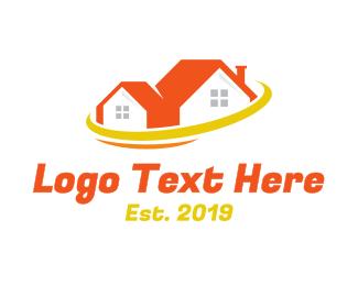 Orange Orange - Orange House Planet logo design