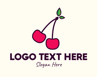 Cherry - Red Cherry Cherries logo design