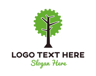 Saw - Industrial Mechanical Tree logo design