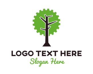 Fabrication - Industrial Tree logo design