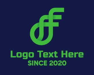 Ea - Digital Green Business logo design