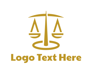 Court House - Abstract Scale Stroke logo design