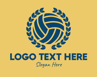 Volleyball Equipment - Volleyball Wreath  logo design